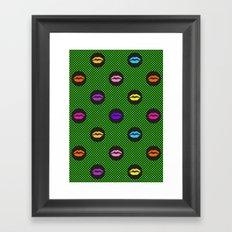 Fun kiss Framed Art Print