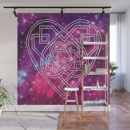 Pink Celtic Heart Galaxy Wall Mural