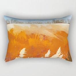 Golden Afternoon Rectangular Pillow