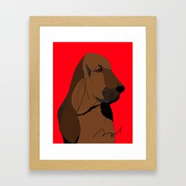 Bloodhound Framed Art Print