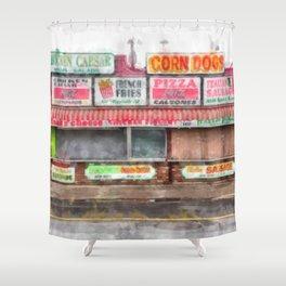 Big Steve's Italian Sausage Hampton Beach Boardwalk Shower Curtain
