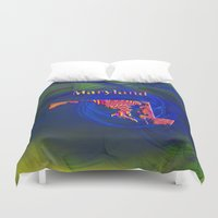 maryland Duvet Covers featuring Maryland Map by Roger Wedegis