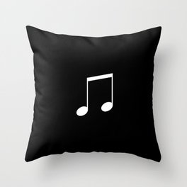 Black and White - Beamed Note Throw Pillow