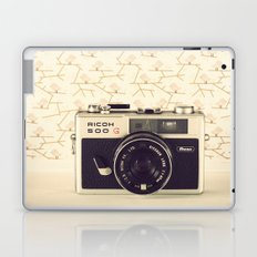 Ricco Film Camera and Pink Background Birds (Vintage and Retro Still Life Photography)  Laptop & iPad Skin