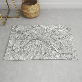 Paris Map Line Rug