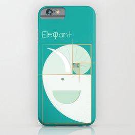 Golden ratio elephant iPhone Case