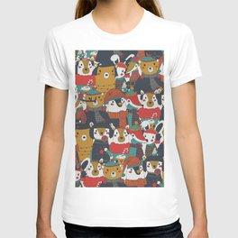 Funky Retro Christmas Animals T-shirt