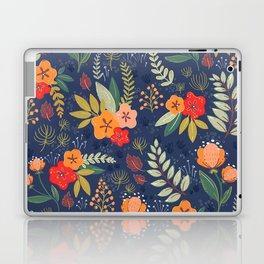 Navy Floral Laptop & iPad Skin