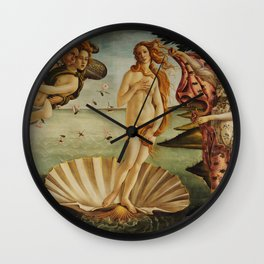 The Birth of Venus by Sandro Botticelli Wall Clock