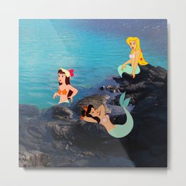 Peter Pan's Mermaid Lagoon Metal Print