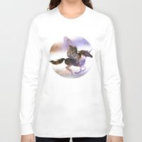 runner Long Sleeve T-shirts featuring Galaxy Runner by elfengamez