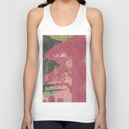 feeling pink on chapel street Unisex Tank Top