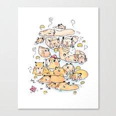 Wild family series - Capybara Canvas Print