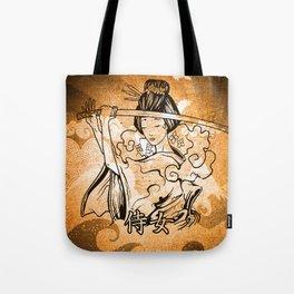 Samurai Woman Art Tote Bag