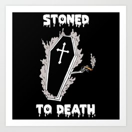 Stoned to Death Art Print