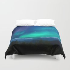 Bright Stars in the Early Morning Sky Duvet Cover