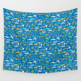 Sharks, Sting Rays and Turtles Wall Tapestry