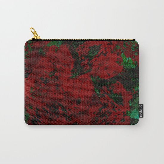 Roses Are Red - Abstract, red and cyan painting Carry-All Pouch