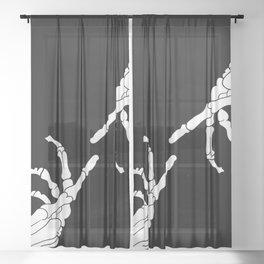 Until Death Do Us Part - Skeleton Hands Sheer Curtain