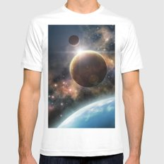 Welcome to the Space White MEDIUM Mens Fitted Tee