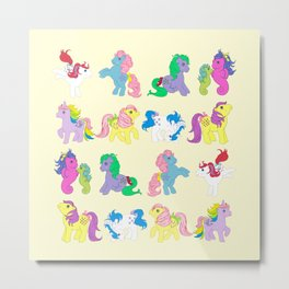 g1 my little pony collage Metal Print