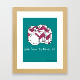 Smile Like You Mean It- 8 x 10 Art Print  Framed Art Print