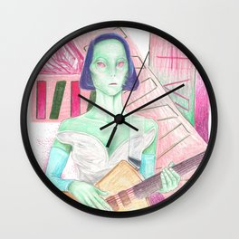 st. vincent / annie clark is an alien Wall Clock