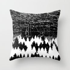 Map Silhouette Square Throw Pillow