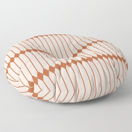 Minimal Geometric Pattern - Coral Floor Pillow