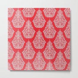 SPIRIT red white Metal Print