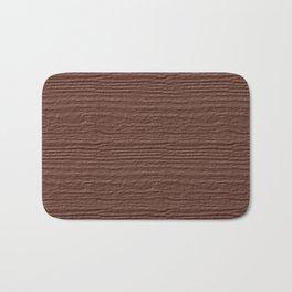 Cognac Wood Grain Texture Color Accent Bath Mat