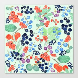 joyful berries Canvas Print