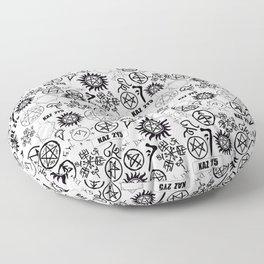 Supernatural Symbols Floor Pillow