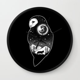 Wild night life 2 Wall Clock