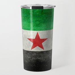 Independence flag of Syria, vintage retro style Travel Mug