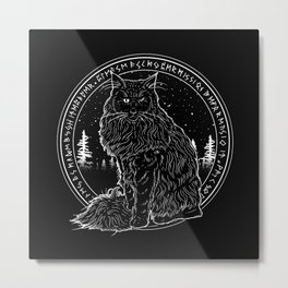 FOREST CAT Metal Print