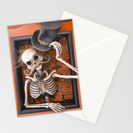 Rucus Studio Gentleman Skeleton Stationery Cards