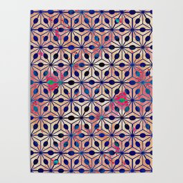 Asterisk Paint Pattern 2 Poster