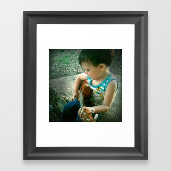 Little Music Man Framed Art Print