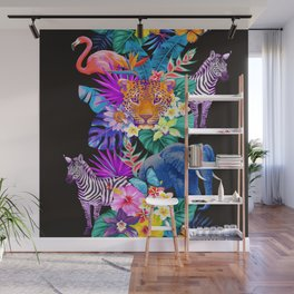 Tropical Animals Wall Mural