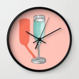 Champagne Wall Clock