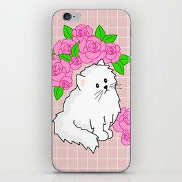 rose kitty grid iPhone Skin