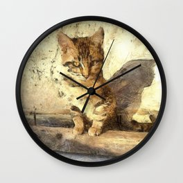 All Cats Are Black In The Dark Wall Clock