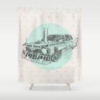 steam punk Shower Curtains featuring Steam punk by grop