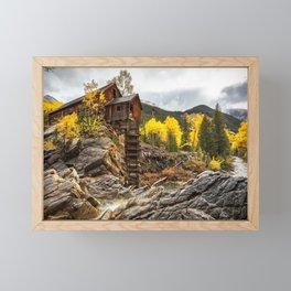 CRYSTAL MILL AUTUMN COLORADO FALL LANDSCAPE Framed Mini Art Print
