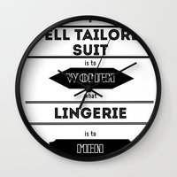 suits Wall Clocks featuring suits by France Oly