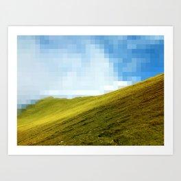 High compression clouds Art Print