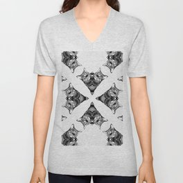 Nala in Black & White II Unisex V-Neck