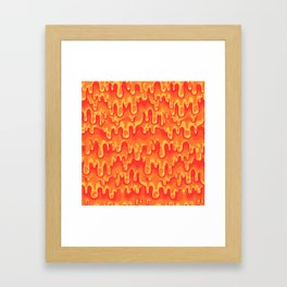 Cheese Melt Framed Art Print