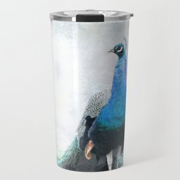 Simple Luxury Peacock Art Travel Mug